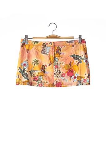 Mini-jupe orange DOLCE & GABBANA pour femme