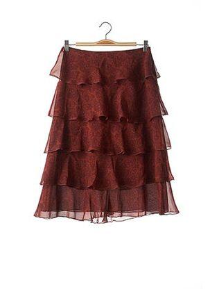Jupe mi-longue rouge APOSTROPHE pour femme