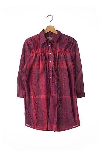 Tunique manches longues rouge BURBERRY pour femme
