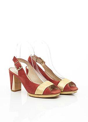 Sandales/Nu pieds orange ACCESSOIRE DIFFUSION pour femme
