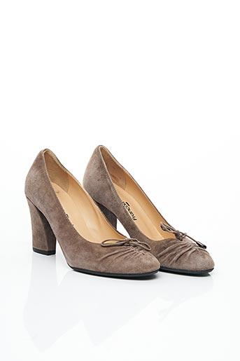 Escarpins marron FRANCOIS PINET pour femme