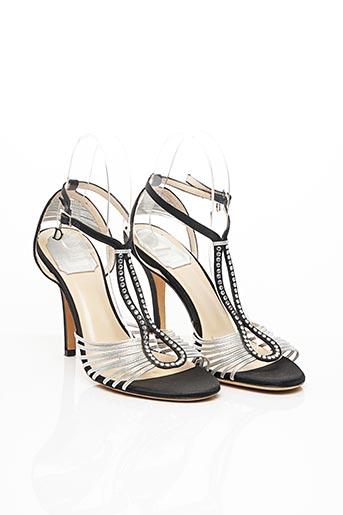 Sandales/Nu pieds noir CHRISTIAN DIOR pour femme