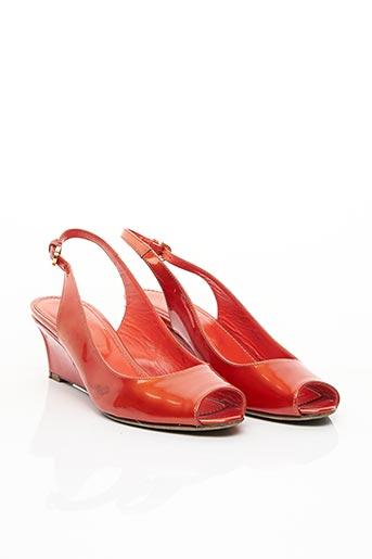 Sandales/Nu pieds orange SERGIO ROSSI pour femme