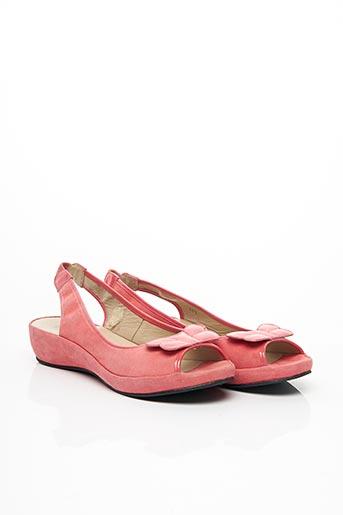 Sandales/Nu pieds rose ACCESSOIRE DÉTENTE pour femme