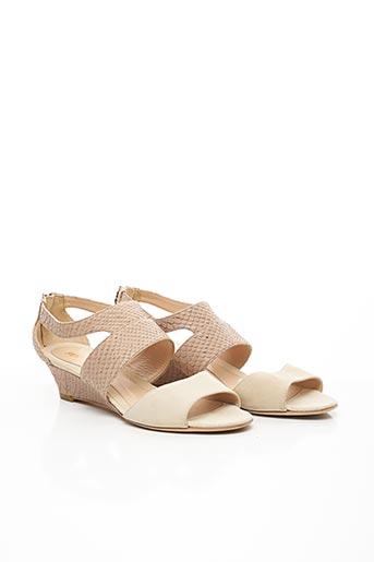 Sandales/Nu pieds beige FENDI pour femme