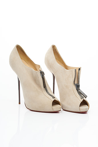 Bottines/Boots beige CHRISTIAN LOUBOUTIN pour femme