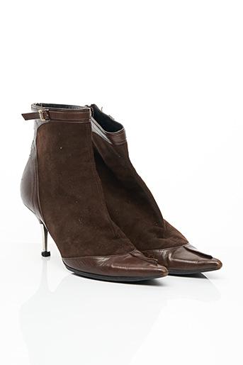 Bottines/Boots marron DIOR pour femme