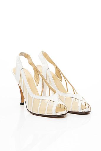 Sandales/Nu pieds blanc ERNEST pour femme