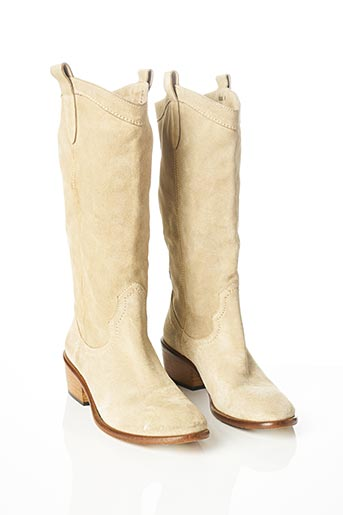 Bottes beige BOEMOS pour femme