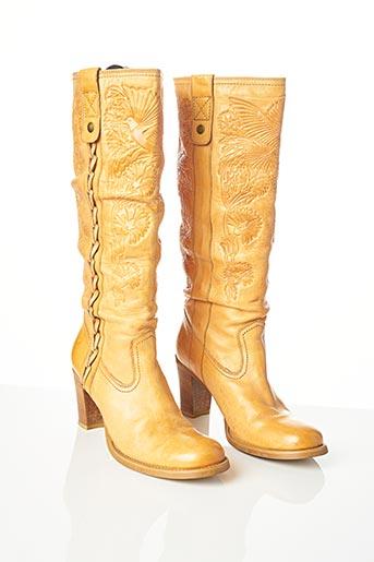 Bottes beige BRONX pour femme