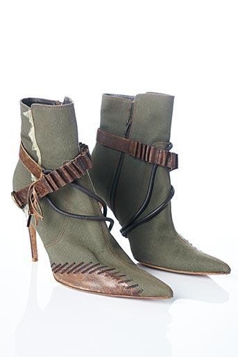 Bottines/Boots vert GALLIANO pour femme