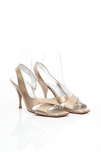 Sandales/Nu pieds beige FRANCOIS PINET pour femme