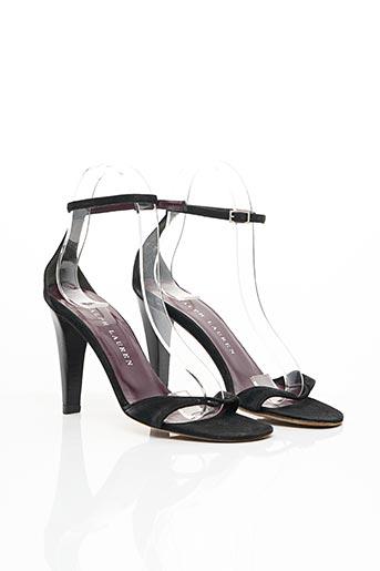 Sandales/Nu pieds noir RALPH LAUREN pour femme