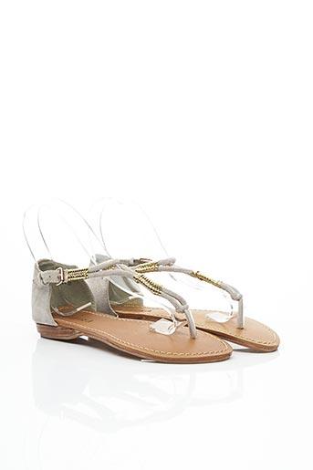 Sandales/Nu pieds gris BAZOKA pour femme