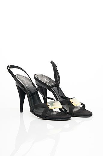 Sandales/Nu pieds noir FENDI pour femme