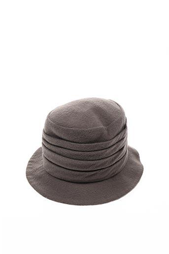 Chapeau marron PAULE KA pour femme