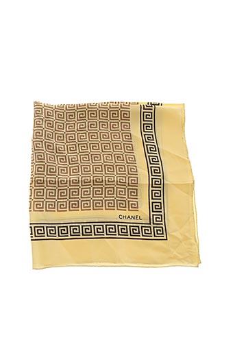 Foulard jaune CHANEL pour femme