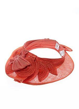 Chapeau orange CELINE ROBERT pour femme
