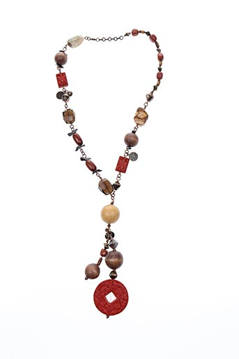Collier rouge CHINE COLLECTION pour femme