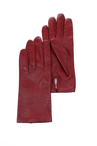 Gants rouge ANDRE POUJADE pour femme