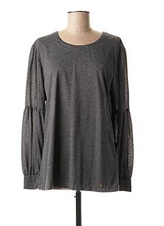 T-shirt manches longues gris CONCRETO pour femme
