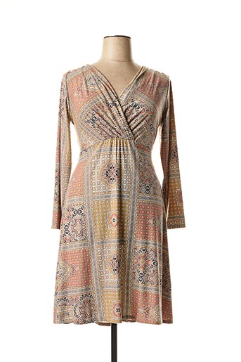 Robe mi-longue orange AN II VITO pour femme