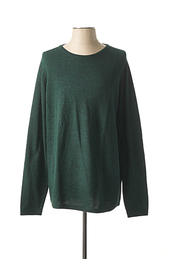 Pull col rond vert SELECTED pour femme