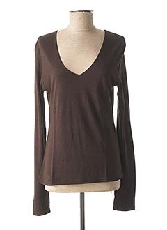 T-shirt manches longues marron BUGARRI pour femme