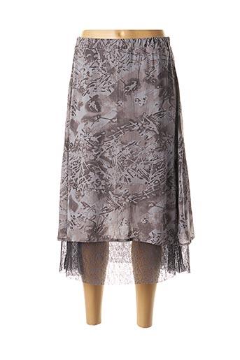 Jupe mi-longue gris GRIFFONNAGE pour femme