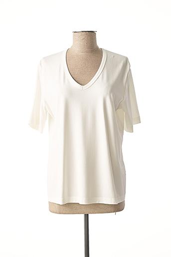 T-shirt manches courtes blanc EUGEN KLEIN pour femme