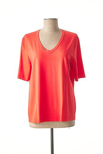 T-shirt manches courtes rouge EUGEN KLEIN pour femme