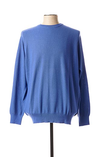 Pull col rond bleu CIPRIANI pour homme