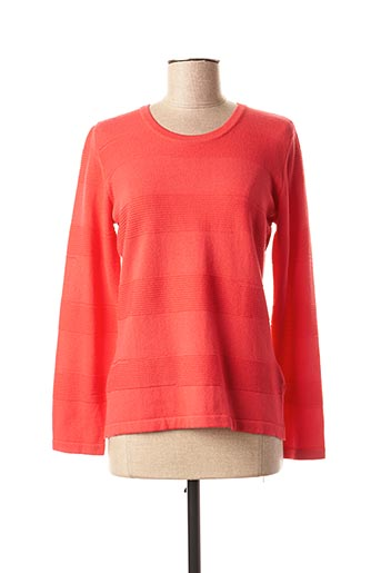 Pull col rond rouge EUGEN KLEIN pour femme