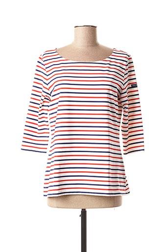 T-shirt manches longues rouge SAINT JAMES pour femme