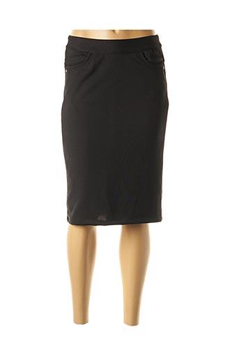 Jupe mi-longue noir EVER EASY BY JAC JAC pour femme