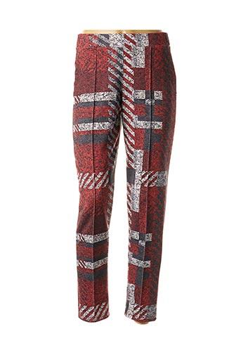 Pantalon casual rouge MALOKA pour femme
