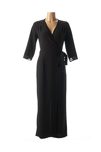 Combi-pantalon noir ELEONORA AMADEI pour femme