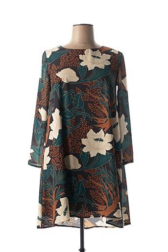 Robe mi-longue vert ELEONORA AMADEI pour femme