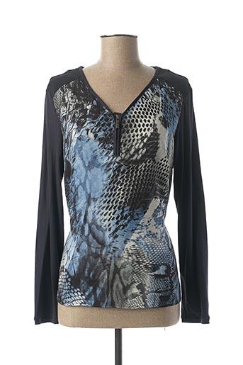 T-shirt manches longues bleu VOODOO pour femme