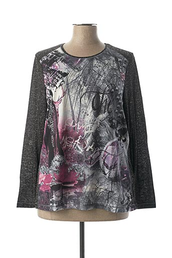 T-shirt manches longues gris BARBARA LEBEK pour femme