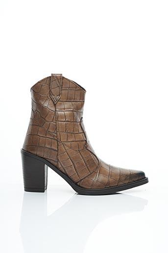 Bottines/Boots beige EMANUELE CRASTO pour femme