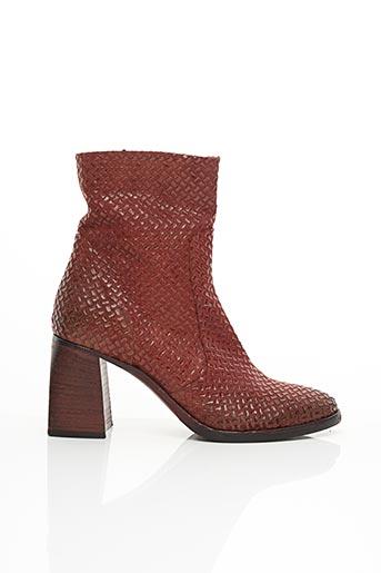 Bottines/Boots rouge STRATEGIA pour femme