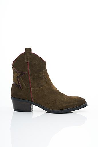 Bottines/Boots vert COCO ET ABRICOT pour femme