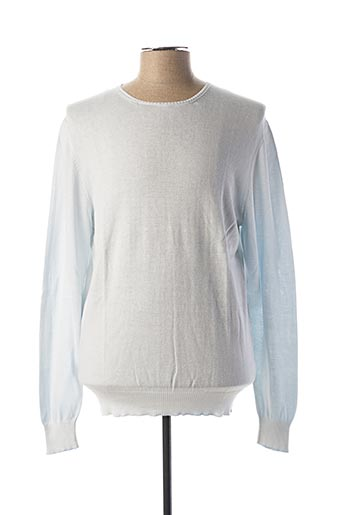 Pull col rond bleu CHICAMA pour homme