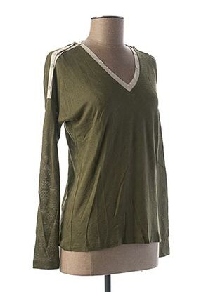 T-shirt manches longues vert LE BOUDOIR D'EDOUARD pour femme