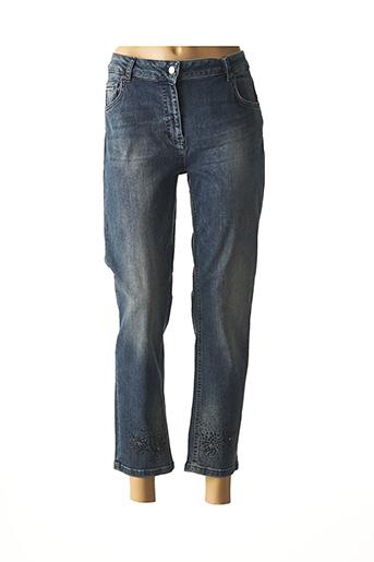 Jeans coupe slim bleu LAUREN VIDAL pour femme