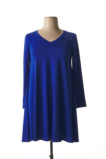 Robe pull bleu MALOKA pour femme