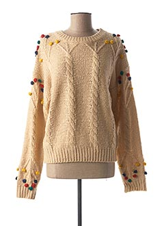 Pull col rond beige PEPA LOVES pour femme