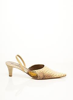 Mules/Sabots beige F.MODE pour femme