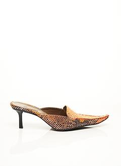 Mules/Sabots orange F.MODE pour femme